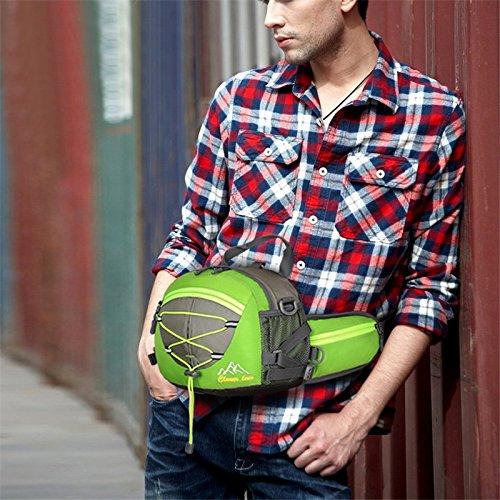 Bicicleta mochila Casual bolsas de bolsa de ciclismo impermeable ultraligero deporte al aire libre Camping mochila Nylon mochila bicicleta senderismo escalada para correr bolsillos con gran capacidad, naranja