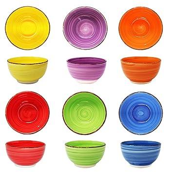Schüsselset 6 Personen Porzellan Geschirr Salatschüssel Schüsseln Müslischalen