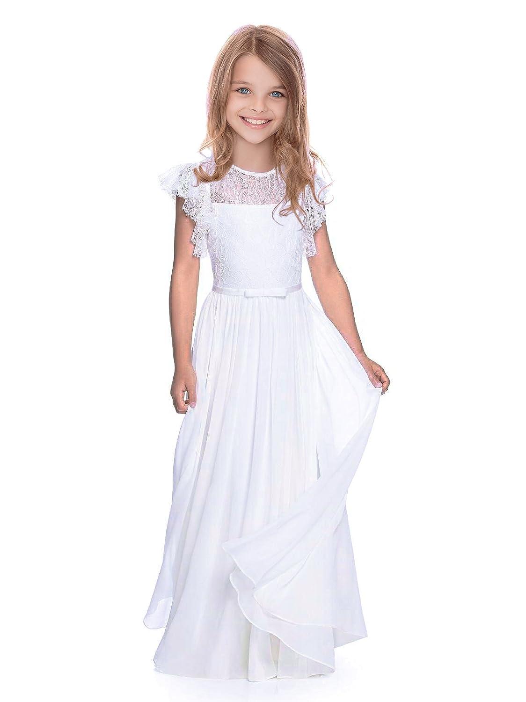 Amazon.com: abaosisters mangas a-line vestido de niña de ...
