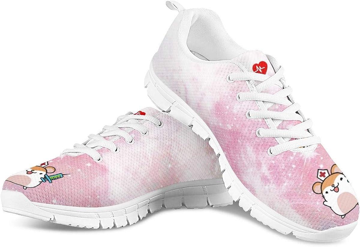 Hugs Idea - Zapatillas de Senderismo para Mujer, Informales, para Correr por la Carretera, Color Rosa, Talla 43 EU: Amazon.es: Zapatos y complementos
