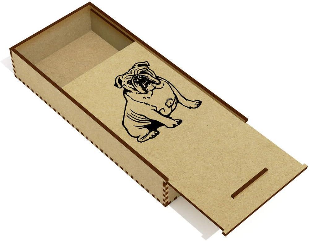 Azeeda Bulldog Inglés Estuche de lápices de Madera (PC00015190): Amazon.es: Juguetes y juegos