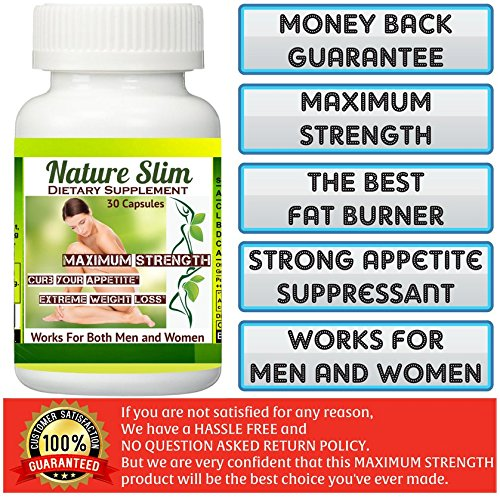1 Bottle (30 Capsules) NATURE SLIM EXTREME WEIGHT LOSS. 60 Days Money Back Guarantee!