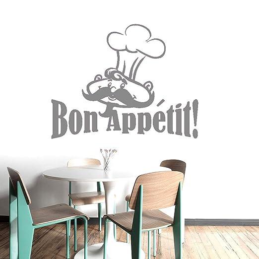 Dibujos animados gracioso chef Bon Appetit! Etiqueta de la ...