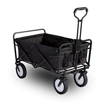garden cart. LIFE CARVER Garden Cart Foldable Pull Wagon Hand Transport Collapsible Portable Folding 5