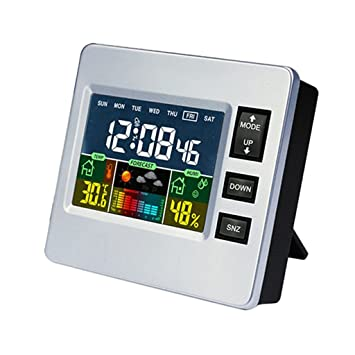 Dolity LCD Reloj Digital Multifuncional Probador de Humedad de Temperatura para Dormitorio / Sala de Estudio: Amazon.es: Hogar