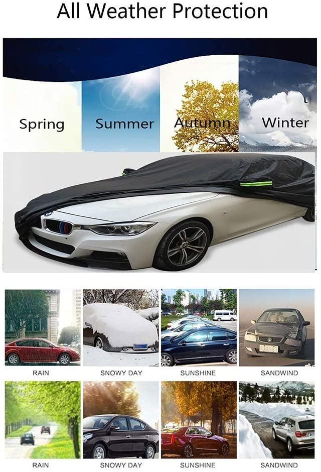 Car Covers Car cover waterproof cover with fluorescent strips UV protection all weather snow dust windproof windproof outdoor protective cover for Chevrolet Camaro car covers for automobiles all weath