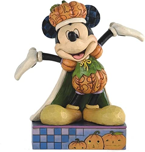 Jim Shore for Enesco Disney Traditions Pumpkin King Mickey Mouse Figurine, 6-Inch