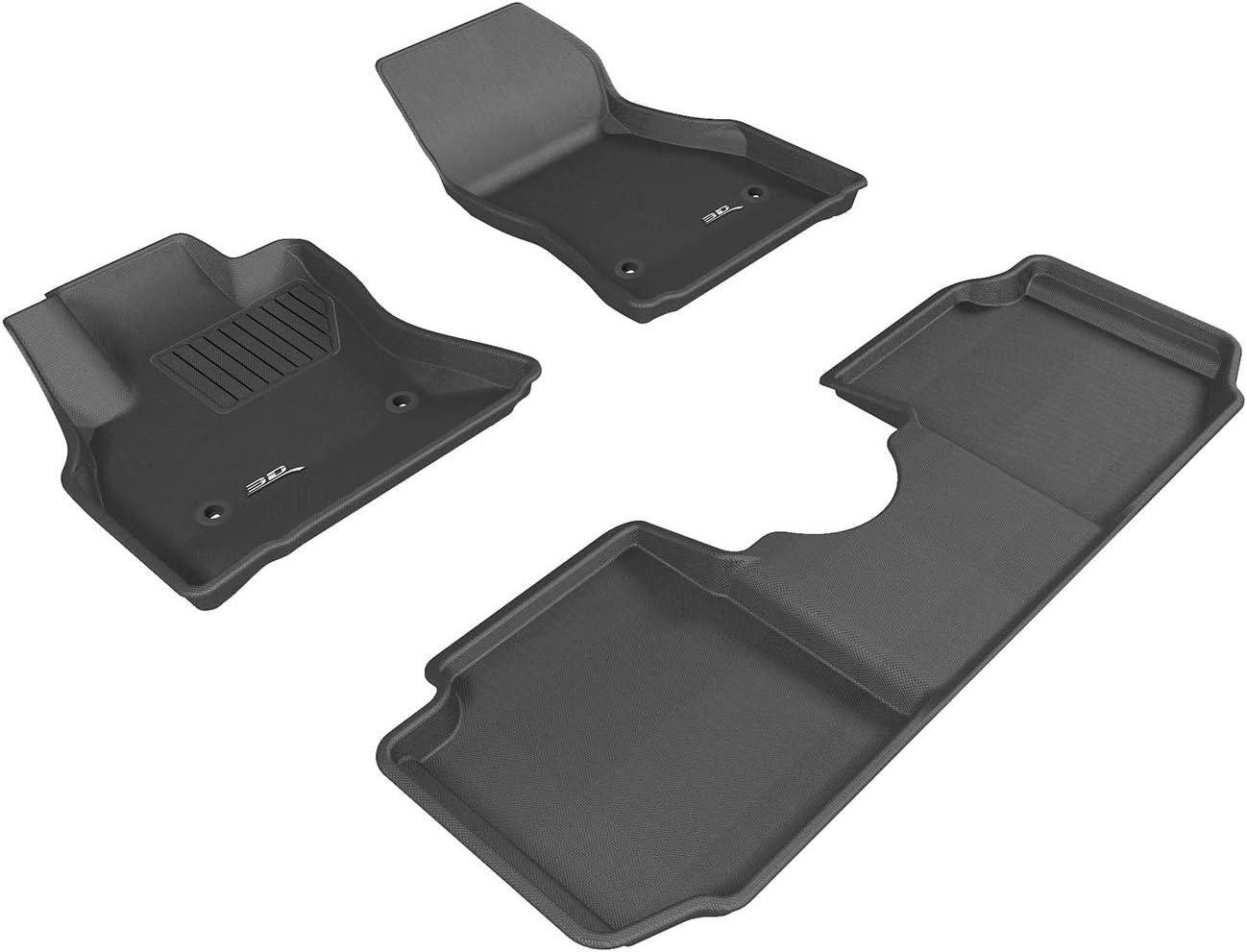 4 PCS 3D DESIGN ALL WEATHER THERMOPLAST FLOOR MAT FIT FOR FIAT 500L 2016-2019