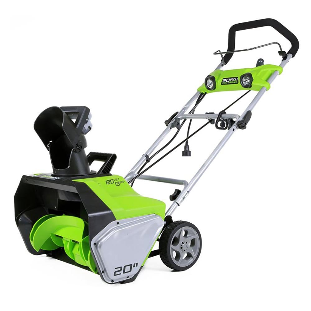 Greenworks 13-Amp 20-Inch Corded Snow Thrower With Dual LED Lights | 2600202 by Greenworks