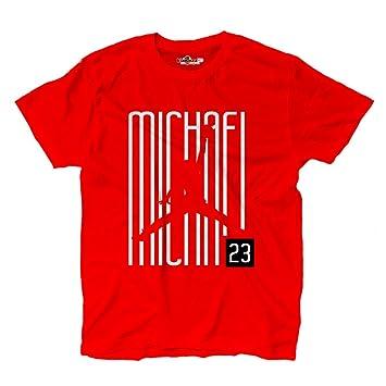 KiarenzaFD Camiseta Camiseta Baloncesto Michael Airness Jordan 23 Writers Chicago All Star Red, KTSA02057-