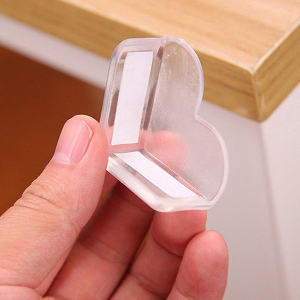 Sicherheit Eckenschutz Wachen 4/St/ück Herz Form Transparent Tisch Eckenschutz f/ür Kinder Baby s Esszimmer Tische