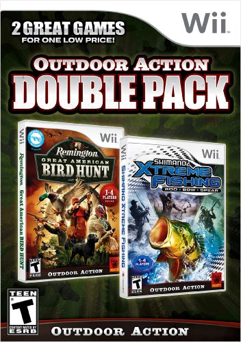 Outdoor Action Double Pack Wii Remington Bird Hunt Shimano Xtreme - Double Blacked