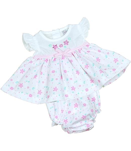 1f1ed879a Amazon.com  BabyPrem Preemie Baby Dress   Knickers Set Flowers Girls ...
