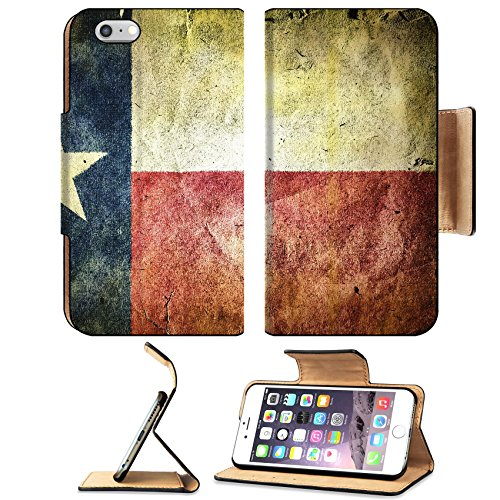 Dallas Cowboys Pub Table (MSD Premium Apple iPhone 6 Plus iPhone 6S Plus Flip Pu Leather Wallet Case IMAGE ID: 35174317 flag of the state of Texas Old vintage paper texture)