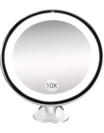 Bestope Miroir Maquillage Grossissant 10x Lumineux16 LED 360Rotation Ajustablefonctionnant