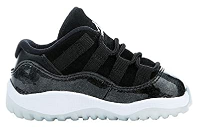 cheaper 16bb8 c7314 Jordan Retro 11 Low Barons Black/White-Metallic Silver ...