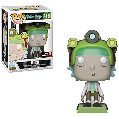 Funko Rick (GameStop Exclusive): Rick & Morty x POP! Animation Vinyl Figure & 1 POP! Compatible PET Plastic Graphical Protector Bundle [#416 / 33987 - B]: Toys & Games