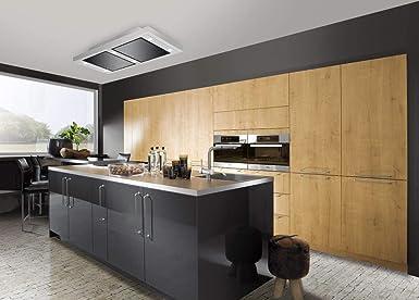 Silverline VGUD 124.1 SRA Vega AC - Campana extractora de techo (120 cm, conforme a la normativa de la UE 65 y 2014, no se deben etiquetar las campanas extractoras): Amazon.es: Grandes electrodomésticos
