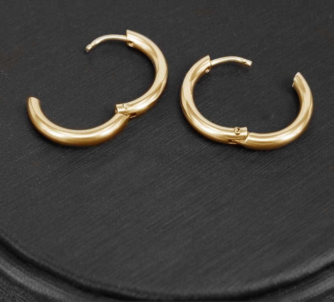 Stainless Steel Endless Hoop Earrings for Multiple Piercings 5 Pairs Small Hoop Earrings Set for Women Men