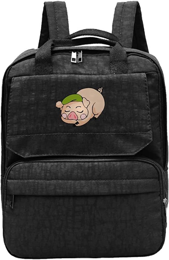 A Pig In Bed Madam Backpacks Cool Travelling Bag