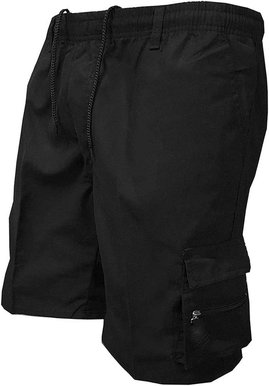 Men's Multi Pocket Shorts Casual Cotton Knee Length Military Shorts Men Loose Army Tactical Shorts