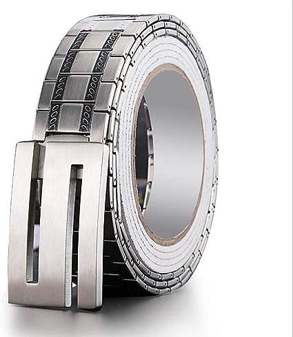 95-135CM W/&P Self-Defense Belt Mens Stainless Steel S Head Buckle Business Rust Belt
