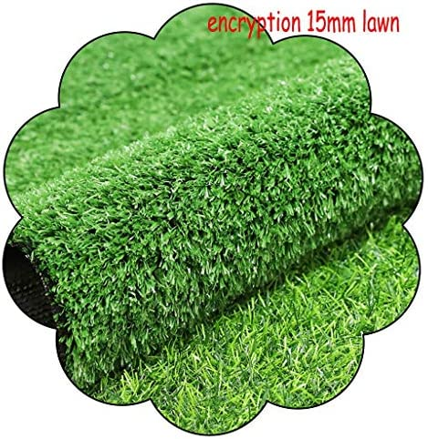 XEWNEG 15MM暗号人工ターフ、防水グリーン多機能フェイク芝生ペットマットは、ルーフガーデンウォールデコレーション、幅2メートルの場合は、カットすることができます (Size : 2x20M)