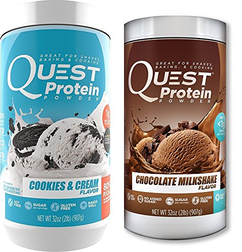 Quest Nutrition Quest Protein fsHhRr Powder, Cookies and Cream/Chocolate Milkshake 2lb Tub (1 of Each) by Quest Nutrition