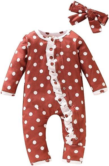 Haokaini 0-18m bebé recién Nacido Punto de Onda Ropa de Dormir Pijamas Mameluco Mono para bebé