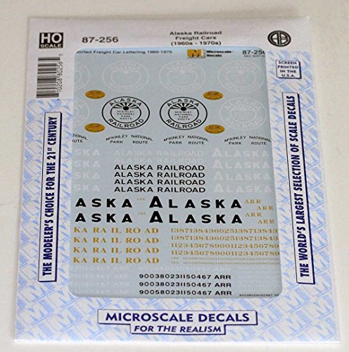 Microscale HO 87-256 Alaska RR ARR Decal set