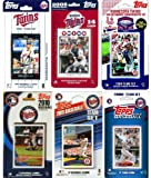 C&I Collectables MLB Minnesota Twins 6 Different Licensed Trading Card Team Sets