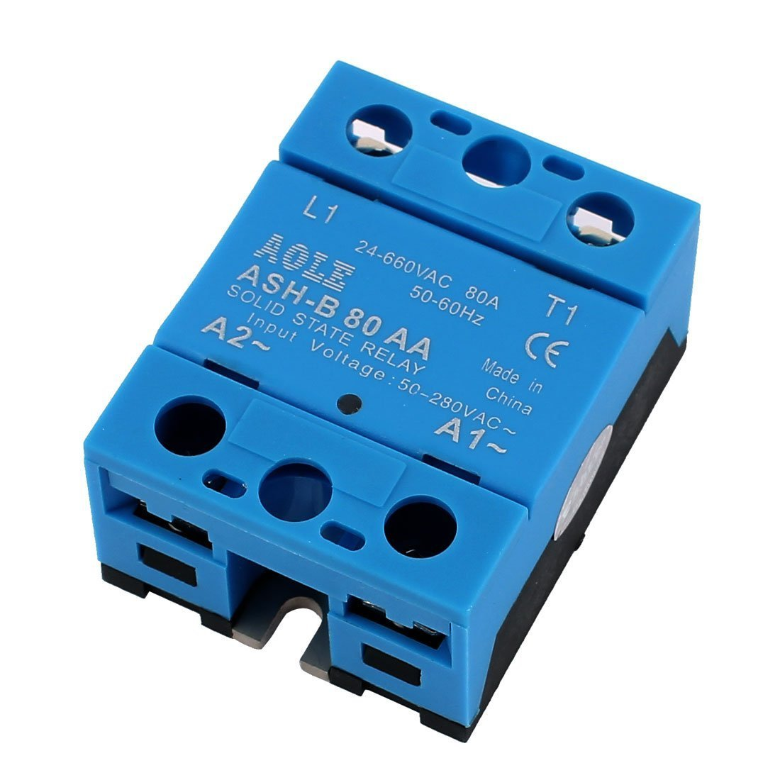 ASH-B80AA 24-660VAC to 480VAC 80A Single Phase Solid State AC to AC Relay a16081800ux0815