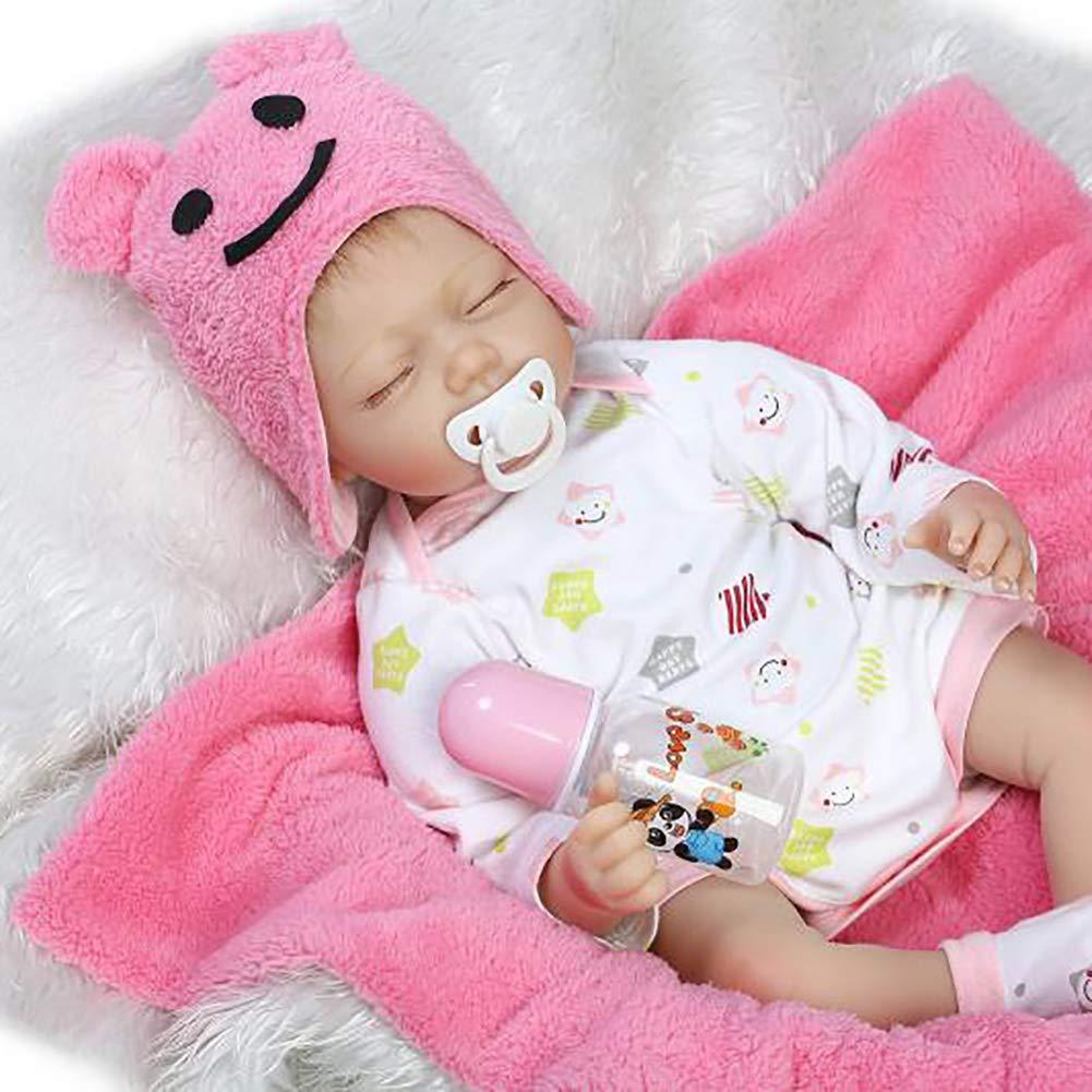 XdremYU 55cm Simulation Reborn Babypuppe Lebensechte Vinylsilikonkinder begleiten Spielzeug Rosa B07QD41NG7 Babypuppen Moderate Kosten | Outlet Online