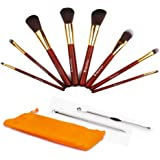 MiroPure 8 PCS Makeup Brush Set Professional Cosmetic Brushes with Acne Black Head Needle