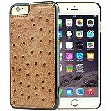 iPhone 6S Plus Case, Dpob True Color Series Ostrich Grain Leather Phone Case for Apple iPhone 6 / 6S Plus 5.5 Inch (Brown)