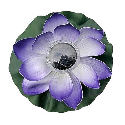 Baoblaze Lanterne Chinoise Lampe Solaire Alimenté Fleur Lotus ...