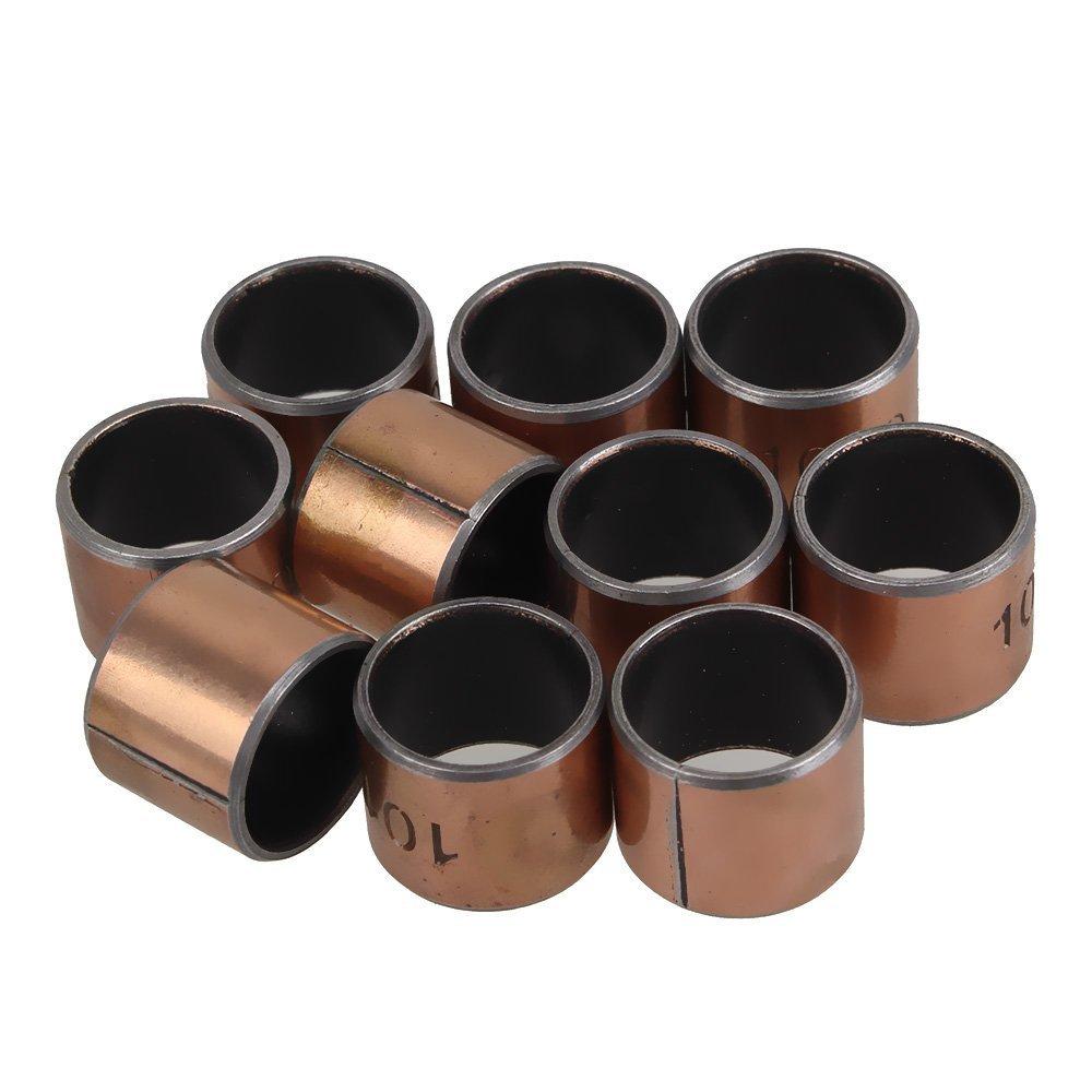 BQLZR Wear-Resisting SF-1 Self Lubricating Bearing Bushing 8mm x 10mm x 12mm Pack Of 10