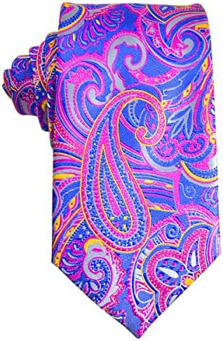 Paisley Silk Tie and Pocket Square . Paul Malone Red Line