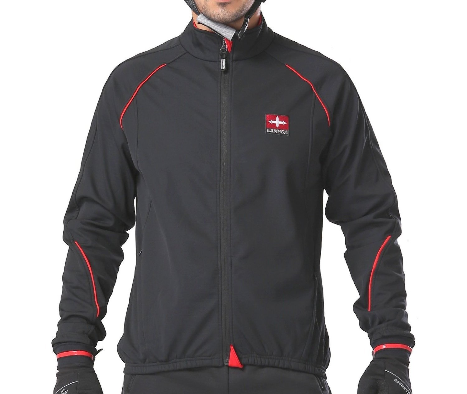 4ucycling Windproof Full Zip Wind Jacket with 3-layers Composite Stretchy Fabric