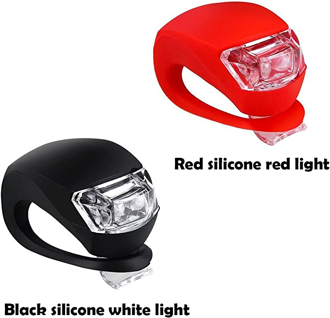 Malker Bicycle Light Front and Rear Silicone LED Bike Light Set Bike Headlight