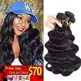 QTHAIR 10A Brazilian Virgin Hair Body Wave 20'' 18'' 16'' 300g Natural Black 100% Unprocessed Virgin Brazilian Body Wavy Human Hair Weave 3 Bundles Brazilian Body Wave Human Hair Extensions