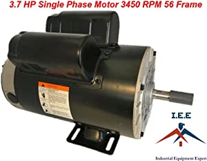 "3.7 HP 3450 RPM, 56 Frame, 230V, 17.2Amp, 5/8"" Shaft, Single Phase NEMA Air Compressor Motor"