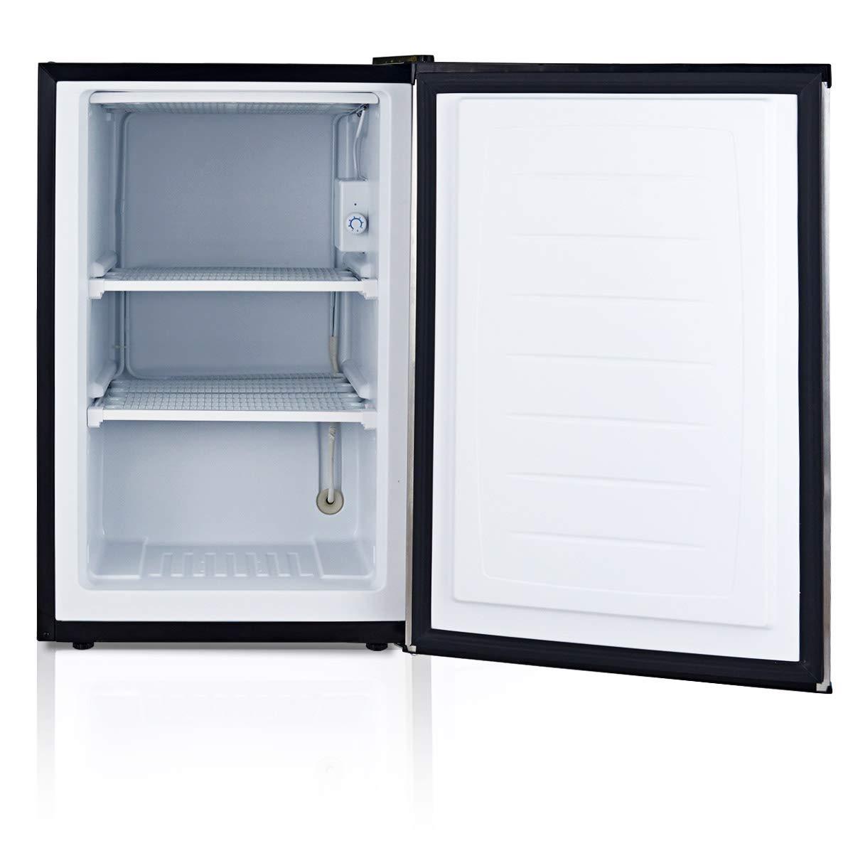 COSTWAY Compact Single Door Upright Freezer - Mini Size with Stainless Steel Door - 3.0 CU FT Capacity - Adjustable by COSTWAY (Image #6)