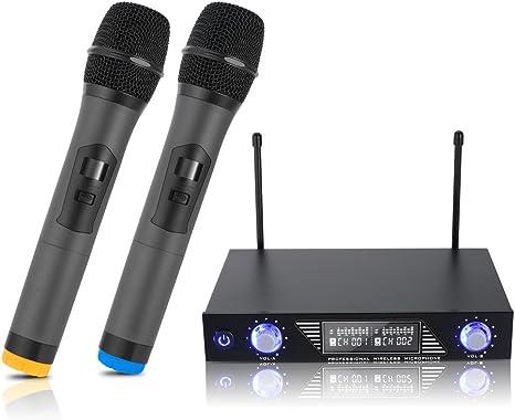 Micrófonos Inalámbricos, Micrófono Profesional Portátil, Receptor ...