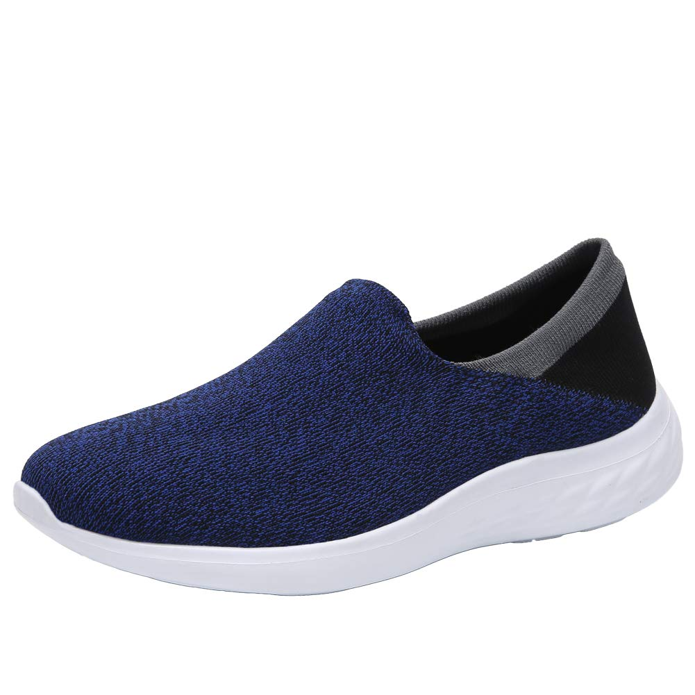 bluee UNN Women's Walking shoes Slip-On Lightweight Casual Breathable Mesh Athletic Sneakers Loafer Flat