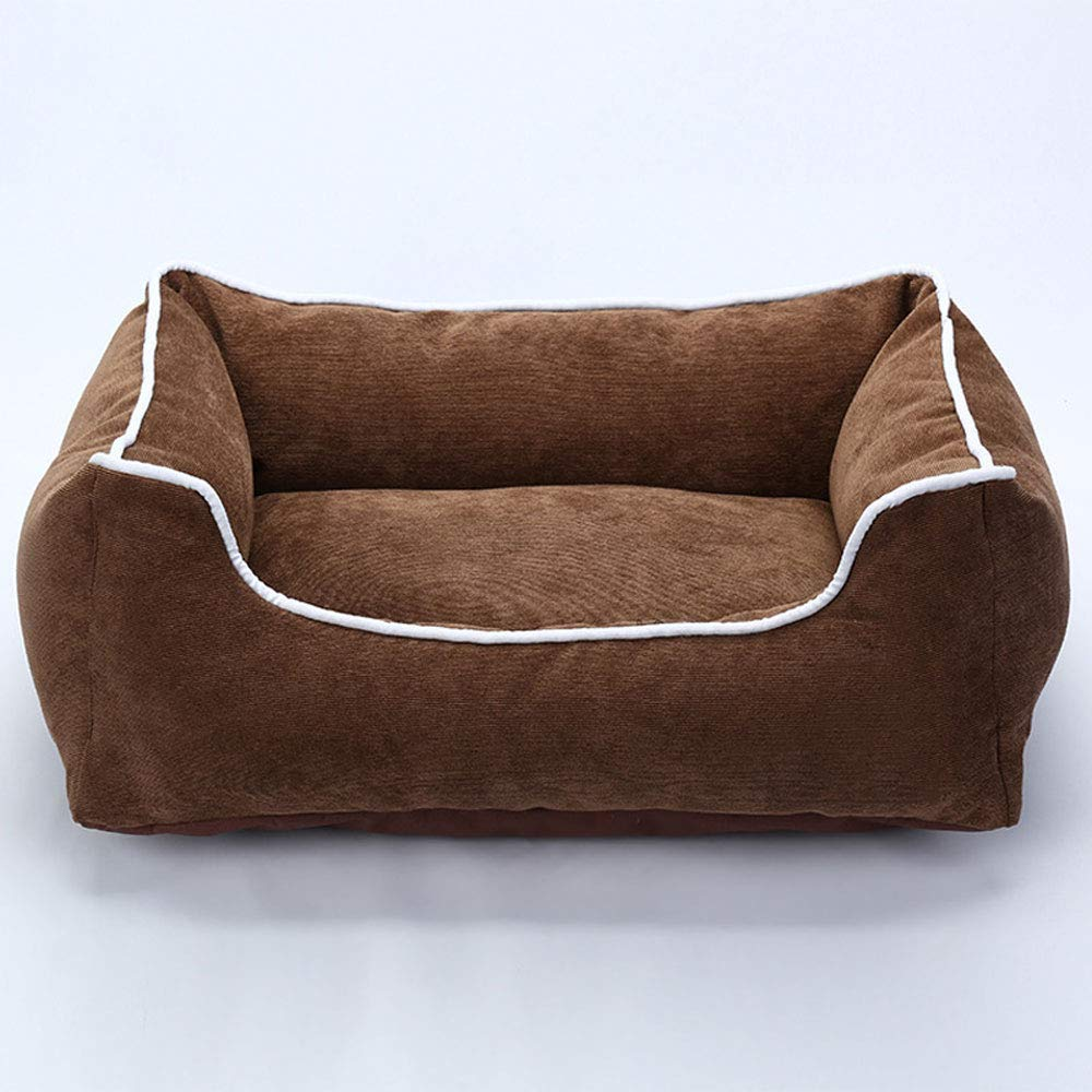 Brown LargeLyuyu The Dog's Bed, Completely Removable and Washable Striped Corduroy Waterproof and Moistureproof Four Seasons Universal Dog sofa big Small and medium dog pet nest cat Nest,bluee,XL