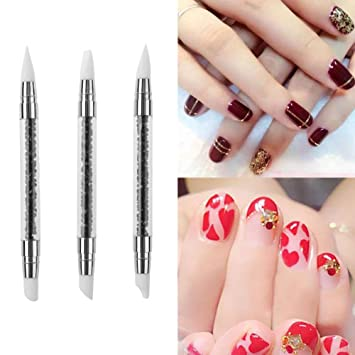 Amazon Gowind7 Nail Art Pens Silicone Dual Ended Hollow