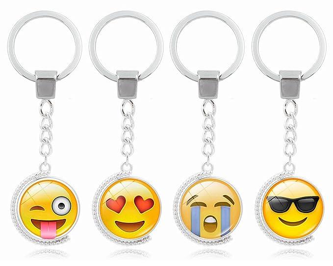 Amazon.com: zocr Emoji Llavero Giratorio Llavero Llavero ...