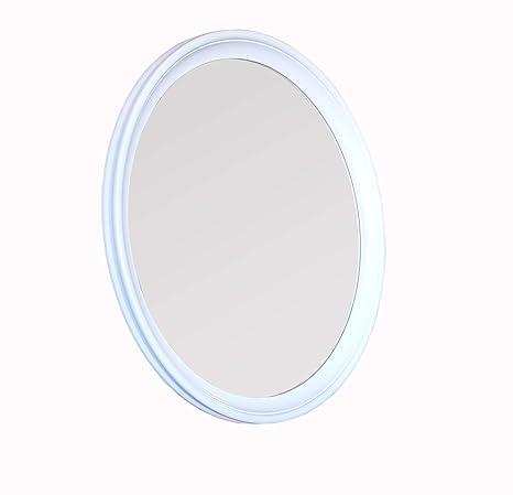 Wandspiegel Rund Weiß Durchmesser 65 Cm Zeitlos Eleganter Holzrahmen Von Bdart