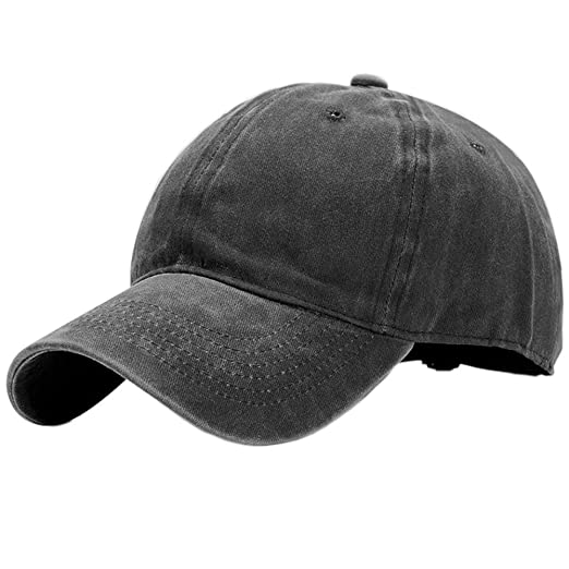 7d43f679 Wash Cotton Hats Solid Adjustable Plain Baseball Caps at Amazon Men's  Clothing store: